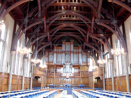 Paul played in the historic Whitworth Hall in the University of Manchester